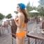 (พรีออเดอร์) ชุดว่ายน้ำ ทู พีช มีชุดคลุมเป็นเสื้อกระโปรง ลายเดียวกับชุด thumbnail 4