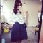 ++สินค้าพร้อมส่งค่ะ++กางเกงขาห้าส่วนเกาหลี ผ้า polyester เนื้อหนา ทรงขากว้าง มี 2 สีค่ะ สี Dark Blue thumbnail 2