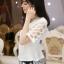 PreOrderไซส์ใหญ่ - เซตคู่เสื้อกางเกงสามส่วน ไซส์ใหญ่ เสื้อดีไซด์แขนสั้น และกางเกงสามส่วน สไตล์เกาหลี สี : ขาว+กางเกง / ดำ+กางเกง thumbnail 3