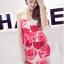 ++สินค้าพร้อมส่งค่ะ++ ชุดเซ็ทเกาหลี เสื้อสายเดี่ยว ผ้า cotton เนื้อหนาพิมพ์ลายดอกไม้+กระโปรงเข้ารูปช่วงสะโพก – สี Red Rose thumbnail 5