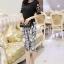 PreOrderไซส์ใหญ่ - เซตคู่เสื้อกางเกงสามส่วน ไซส์ใหญ่ เสื้อดีไซด์แขนสั้น และกางเกงสามส่วน สไตล์เกาหลี สี : ขาว+กางเกง / ดำ+กางเกง thumbnail 5