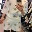 Chanel++สินค้าพร้อมส่งค่ะ++ชุดเซ็ทเกาหลี เสื้อคอกลม แขนห้าส่วน ผ้า Cotton Space เนื้อดีปักลายผึ้งทั้งตัวและกางเกงขาสั้นเข้าชุด มี 2 สีค่ะ สีขาว thumbnail 3