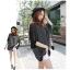 Pre Order - เสื้อแฟชั่นเกาหลี ใส่สลาย ปลายแขนและชายเสื้อเย็บผ้าชีฟอง ตัวใหญ่เหมาะกับฤดูร้อน สี : สีขาว / สีดำ thumbnail 4