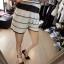 ViVi Party ++สินค้าพร้อมส่งค่ะ++ ชุดแฟชั่นเซ็ทเกาหลี เสื้อแขนสั้น คอเฉียง ผ้า Knit เนื้อเบาสบายพิมพ์ลายริ้ว+กางเกงขาสั้น – สีขาว thumbnail 5