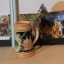 M0412 แก้วเบียร์เยอรมันโบราณ RM ลวดลายนูนรูปชาวบ้านนั่งคุยกัน - ราคารวมค่าจัดส่ง EMS แล้ว thumbnail 3