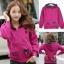 ++สินค้าพร้อมส่งค่++ Jacket เกาหลี แขนยาว มี hood สองชั้น ลาย น้องแมวหน้าหลังน่ารัก สีม่วง thumbnail 1