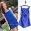++สินค้าพร้อมส่งค่ะ++ Jumpsuit กางเกงขาสั้นเกาหลี ผ้า polyester เนื้ผสม ดีไซด์ด้านหลังเป็นสายเอี้ยมน่ารัก – สี Sapphire thumbnail 1