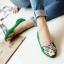 Pre Order - รองเท้าแฟชั่น หุ้มส้น หัวรองเท้าเป็นรูปเสือ แบบสดใส สี : สีชมพู / สีเขียว / สีน้ำเงิน / สีดำ thumbnail 5