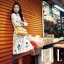 ViVi Party++สินค้าพร้อมส่งค่ะ++กระโปรงสั้นเกาหลี ผ้า Acetate เนื้อดีพิมพ์ลายดอกทิวลิปน่ารัก สีขาว thumbnail 4