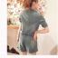 ++สินค้าพร้อมส่งค่++ ชุด Jumpsuit กางเกงขาสั้น เสื้อคอปก ช่วงตัวมีกระดุม 1 เม็ด แขนสามส่วนพับได้ แต่งกระเป๋าข้าง 2 ข้าง+หลัง – สี Blue Jean ( thumbnail 4