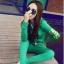 ++สินค้าพร้อมส่งค่ะ++Sport Set เกาหลี เสื้อ Jacket มี hood แขนยาว สกรีนลายด้วยดิ้นเก๋และกางเกงขายาว มี 4 สีค่ะ สีเขียว thumbnail 1