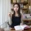 Dowisi ++สินค้าพร้อมส่งค่ะ++ชุดเดรส แขนยาว สำหรับสาวทำงานแสนหวาน จับจีบช่วงไหล่ ตัดต่อผ้า 2 สี เข้ารูปช่วงเอวปลายเดรสบาน – สีน้ำเงิน (Size: M) thumbnail 4