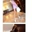++สินค้าพร้อมส่งค่ะ++ ชุด jumpsuit กางเกงขาสั้นเกาหลี คอกลม แขนเต่อ ช่วงอกแต่งด้วยตาข่ายซิบด้านหลังยาว เอวรูดเข้า มี 2 สีค่ะ – สีม่วง thumbnail 2