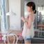 ++เสื้อผ้าเกาหลี++cherry dress*พร้อมส่ง*เสื้อผ้าแฟชั่น เสื้อชีฟอง ผ้า Cotton เสริมฟองน้ำที่ไหล่ แต่งระบายผ้าตาข่าย สีชมพู thumbnail 3