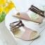 Pre Order - รองเท้าแฟชั่น ส้นเตี้ยแบน หวาน ๆ สไตล์ลำลอง สี : สีม่วง / สีชมพู / สีครีม thumbnail 9
