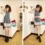 ++เสื้อผ้าไซส์ใหญ่++ Qiaoyi *Pre-Order *ชุดเดรสเกาหลีไซส์ใหญ่แขนยาวผ้าฝ้ายเนื้อนุ่มแต่งระบายด้วยผ้าชีฟองน่ารักมากค่ะ thumbnail 1