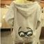 ++สินค้าพร้อมส่งค่ะ++ jacket เกาหลี แขนยาว มี hood มีซับในลายริ้วน่ารัก ผ้า cotton sweater เนื้อหนา สกรีนลายการ์ตูน - สีเทา thumbnail 5