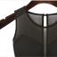 OUREMU ++สินค้าพร้อมส่งค่ะ++Jumpsuit กางเกงขายาวเกาหลี คอกลม แขนกุด ตัวเสื้อตาข่าย ด้านหลังแฉกเกาะกระดุม ทรงสวย – สีดำ thumbnail 3