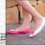 Pre Order - รองเท้าแฟชั่น ดีไซด์ลูกอมหลากสี ปลายแหลม ส้นเตี้ย สี : สีขาว-ดำ / สีขาว-ชมพู / สีขาว-เหลือง thumbnail 6