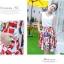 Angel Babie ++สินค้าพร้อมส่งค่ะ++ชุดแฟชั่นเซ็ทเกาหลี เสื้อคอ V แขนกุด ผ้าไหมเนื้อดีสวย+กระโปรงผ้าพิมพ์ลายยุโรปเก๋ – สีขาว thumbnail 2