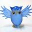 นกฮูกแก้วเป่า Glass Figurine Owl thumbnail 1