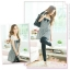 (สินค้าพร้อมส่งค่ะ) เสื้อตัวยาว-ชุดเดรส คอกว้าง ผ้าสีพื้นตัดต่อผ้าพิมพ์ลายสม็อกหลัง กระโปรงสั้น - สีดำ thumbnail 3