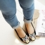 Pre Order - รองเท้าแฟชั่น หุ้มส้น หัวรองเท้าเป็นรูปเสือ แบบสดใส สี : สีชมพู / สีเขียว / สีน้ำเงิน / สีดำ thumbnail 1