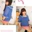 PreOrderไซส์ใหญ่ - เสื้อแฟชั่นเกาหลี ไซส์ใหญ่ คนอ้วน ผ้าชีฟอง แต่งระบายที่คอและแขน สี : ชมพู / น้ำเงิน thumbnail 4