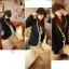++สินค้าพร้อมส่งค่ะ++ เสื้อสูท สไตล์เกาหลี เนื้อดี ดีไซด์กลาสี ปักที่กระเป๋าบนอก และมีกระเป๋าคู่ล่าง ขลิบขอบรอบตัวเสื้อ - สีดำ thumbnail 4