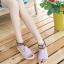 Pre Order - รองเท้าแฟชั่น ส้นเตี้ยแบน หวาน ๆ สไตล์ลำลอง สี : สีม่วง / สีชมพู / สีครีม thumbnail 1
