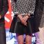 ++สินค้าพร้อมส่งค่++ชุดเซ็ทเกาหลี เสื้อแขนยาว คอกลมลายเชือก+กระโปรงสั้นหนัง ดีไซด์เก๋เนื้อผ้าดีมากค่ะ – สีดำ thumbnail 7