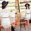 Pre Order - เสื้อแฟชั่นเกาหลี ผ้าชีฟองพิมพ์ลาย ใส่สบาย น่ารัก มีเสื้อตัวข้างในด้วย สี : สีขาว / สีดำลายดาว / สีดำลายตาราง thumbnail 2