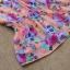 Qian Yi *Pre-order*เสื้อไซส์ใหญ่ แขนตุ๊กตา คอกลมแต่งลูกไม้ จํ้มเอว ลายดอกไม้สวยหวาน - สีชมพู สีเขียว thumbnail 7