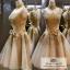wedding ชุดแต่งงานเจ้าสาวแสนสวย หรูหรา สง่างามด้วยลูกไม้และผ้าสีทองค่ะ thumbnail 1
