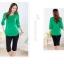 ++เสื้อผ้าไซส์ใหญ่++* Pre-Order* เสื้อผ้าแฟชั่นไซส์ใหญ่แขนสามส่วนแต่งด้านหน้าติดกระดุมสวย thumbnail 4