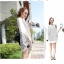 Pre Order - เสื้อแฟชั่นเกาหลี ใส่สลาย ปลายแขนและชายเสื้อเย็บผ้าชีฟอง ตัวใหญ่เหมาะกับฤดูร้อน สี : สีขาว / สีดำ thumbnail 6