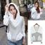 ++สินค้าพร้อมส่งค่ะ++ เสื้อ Jacket เกาหลี แขนยาว ผ้า cotton sweater+lace เนื้อดี มี Hood กระเป๋าลูกไม้สองข้างน่ารัก – สีเทา thumbnail 9