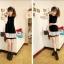 ++เสื้อผ้าไซส์ใหญ่++ Qiaoyi *Pre-Order *ชุดเดรสเกาหลีไซส์ใหญ่แขนยาวผ้าฝ้ายเนื้อนุ่มแต่งระบายด้วยผ้าชีฟองน่ารักมากค่ะ thumbnail 2