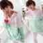 ++สินค้าพร้อมส่งค่ะ++ชุด Sport set เกาหลี เสื้อแขนยาว มี Hood เอวจั้ม +กางเกงขายาว ดีไซด์เล่นสีผ้าเก๋ มี 3 สีค่ะ - สีเขียว/ชมพู thumbnail 1