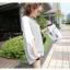 Pre Order - เสื้อแฟชั่นเกาหลี ใส่สลาย ปลายแขนและชายเสื้อเย็บผ้าชีฟอง ตัวใหญ่เหมาะกับฤดูร้อน สี : สีขาว / สีดำ thumbnail 7