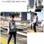 ++สินค้าพร้อมส่งค่ะ++ เสื้อ 2 ชิ้น ตัวนอกพิมพ์ลายดาว/ตัวในพิมพ์ลายทาง - สีเทา thumbnail 4