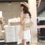 Vivi Party ++สินค้าพร้อมส่งค่ะ++ ชุดเดรสสั้น (ข้างในเป็นกางเกงนะค่ะ) คอปก ผ้าปักลาย เข้ารูป กระโปรงบาน – สี ขาว thumbnail 2