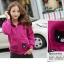 ++สินค้าพร้อมส่งค่++ Jacket เกาหลี แขนยาว มี hood สองชั้น ลาย น้องแมวหน้าหลังน่ารัก สีม่วง thumbnail 3