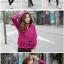 ++สินค้าพร้อมส่งค่++ Jacket เกาหลี แขนยาว มี hood สองชั้น ลาย น้องแมวหน้าหลังน่ารัก สีม่วง thumbnail 5