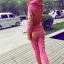 ++สินค้าพร้อมส่งค่ะ++Sport Set เกาหลี เสื้อ Jacket มี hood แขนยาว สกรีนลายด้วยดิ้นเก๋และกางเกงขายาว มี 4 สีค่ะ สีชมพู thumbnail 3