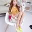 Pre Order - รองเท้าแฟชั่น ดีไซด์ลูกอมหลากสี ปลายแหลม ส้นเตี้ย สี : สีขาว-ดำ / สีขาว-ชมพู / สีขาว-เหลือง thumbnail 2