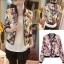 ++สินค้าพร้อมส่งค่ะ++ เสื้อ jacket แฟชั่นเกาหลี แขนยาว ผ้าไหมพิมพ์ลาย สไตล์เบสบอลดีไซด์ – สีชมพู thumbnail 1