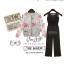 OUREMU ++สินค้าพร้อมส่งค่ะ++Jumpsuit กางเกงขายาวเกาหลี คอกลม แขนกุด ตัวเสื้อตาข่าย ด้านหลังแฉกเกาะกระดุม ทรงสวย – สีดำ thumbnail 5