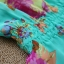 Qian Yi *Pre-order*เสื้อไซส์ใหญ่ แขนตุ๊กตา คอกลมแต่งลูกไม้ จํ้มเอว ลายดอกไม้สวยหวาน - สีชมพู สีเขียว thumbnail 8