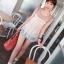 ++เสื้อผ้าเกาหลี++cherry dress*พร้อมส่ง*เสื้อผ้าแฟชั่น เสื้อชีฟอง ผ้า Cotton เสริมฟองน้ำที่ไหล่ แต่งระบายผ้าตาข่าย สีชมพู thumbnail 6